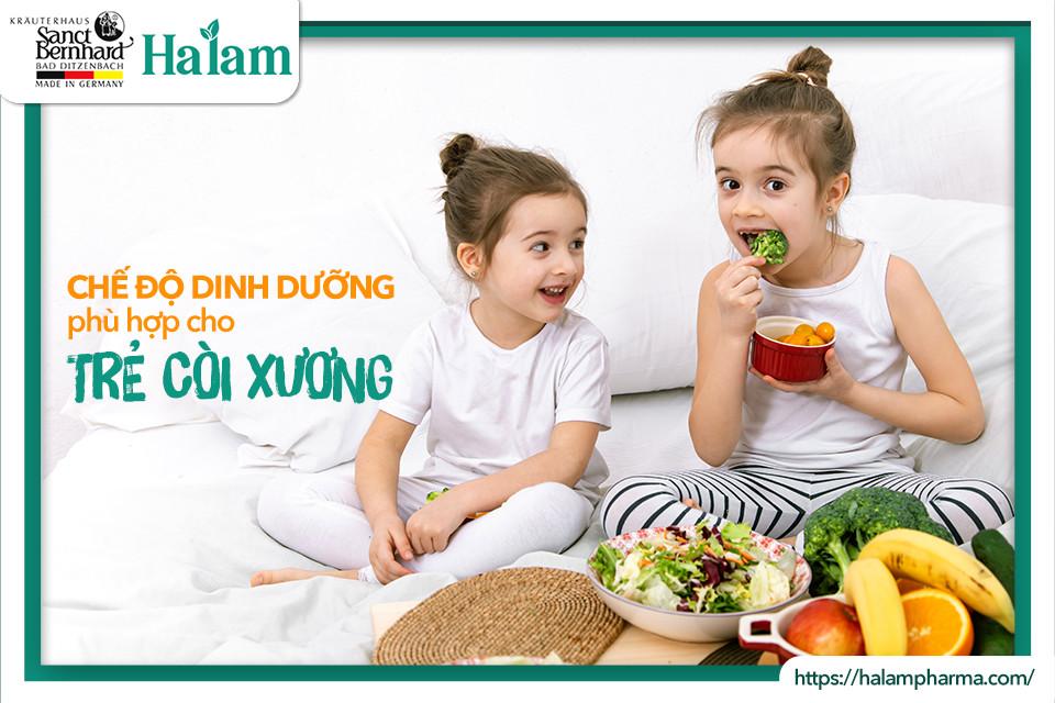 Chế độ dinh dưỡng phù hợp cho trẻ còi xương - ba mẹ nên biết