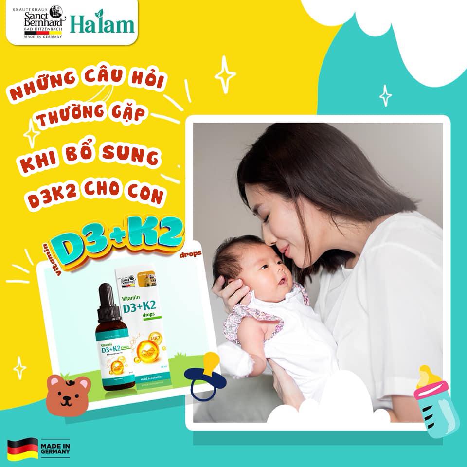 Những câu hỏi thường gặp khi mẹ bổ sung vitamin D3k2 cho con