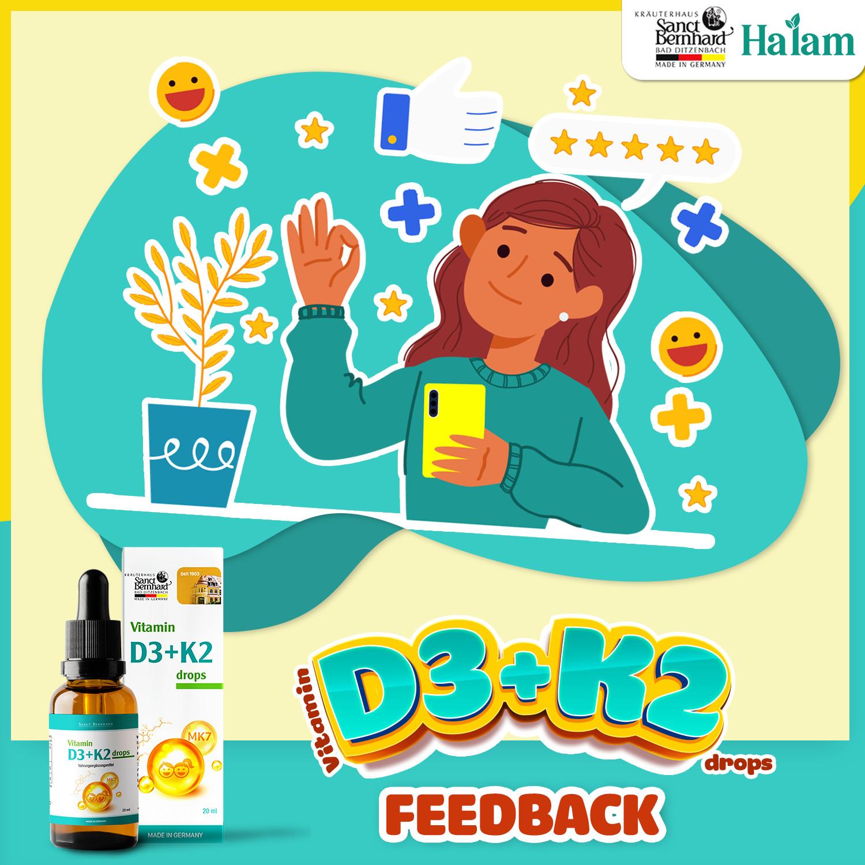Feedback Vitamin D3 K2 Drops Sanct Bernhard