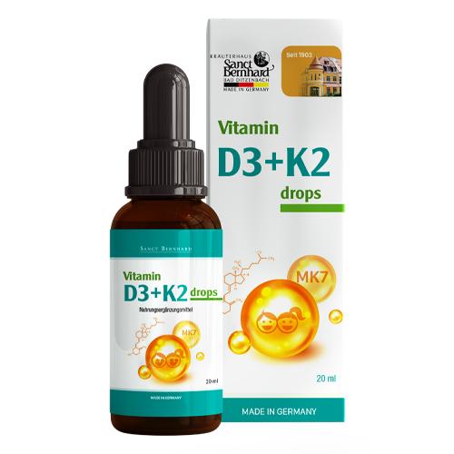 Vitamin D3+K2 drops Sanct Bernhard 20 ml
