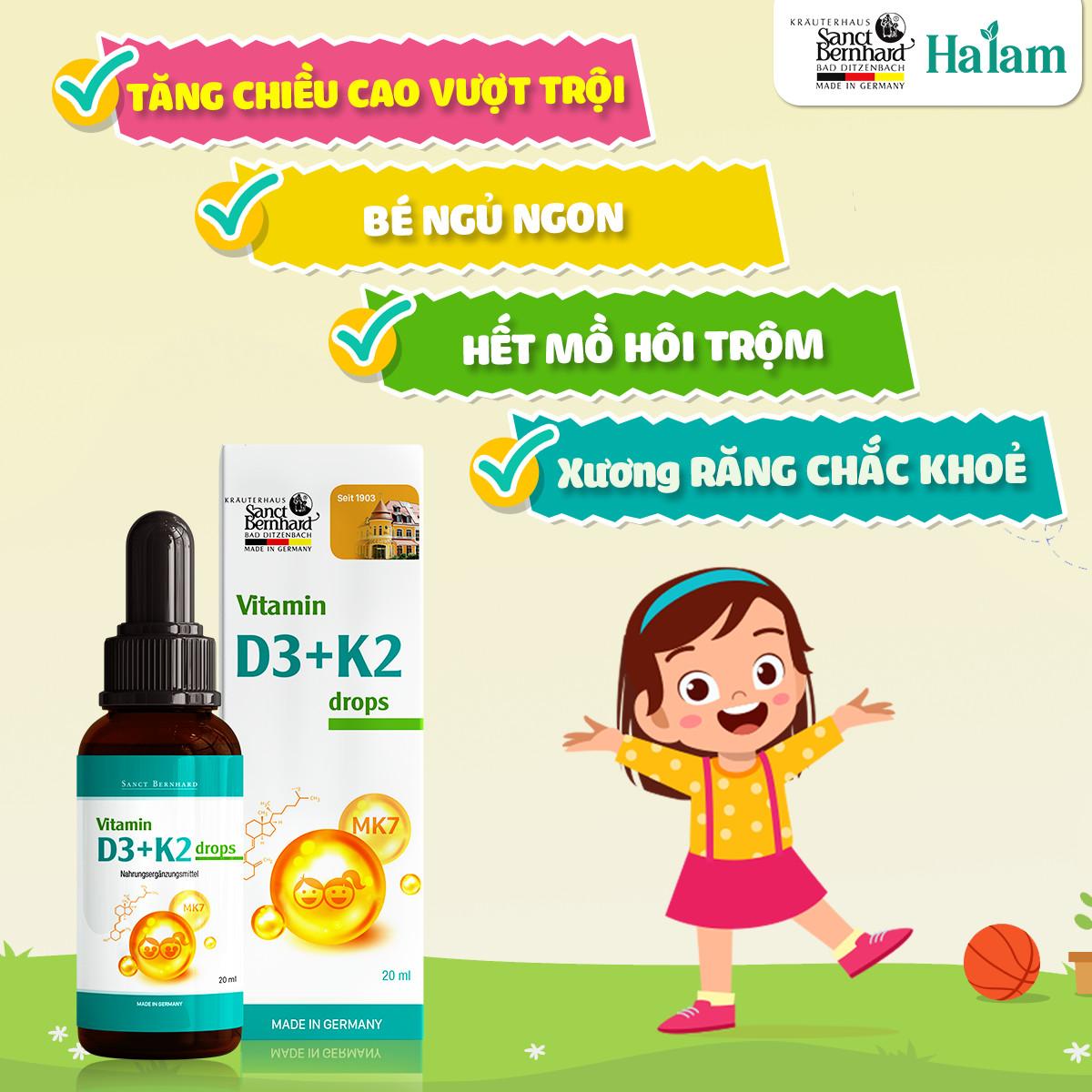 bo sung vitamin d3k2 cho be